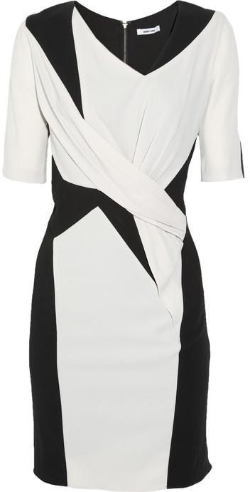 Helmut Lang Paneled crepe-jersey dress
