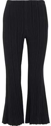 Proenza Schouler Plissé Stretch-Knit Kick-Flare Pants