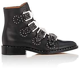 Givenchy Women's Elegant Studded Leather Ankle Boots - Black