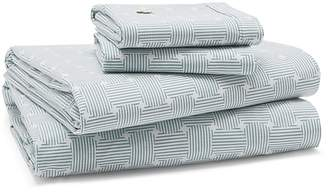 Lacoste Geo Compass Percale Sheet Set, Twin XL
