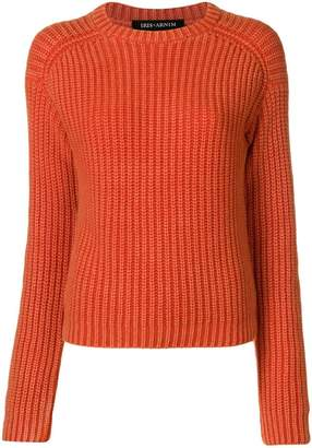 Iris von Arnim ribbed round neck jumper