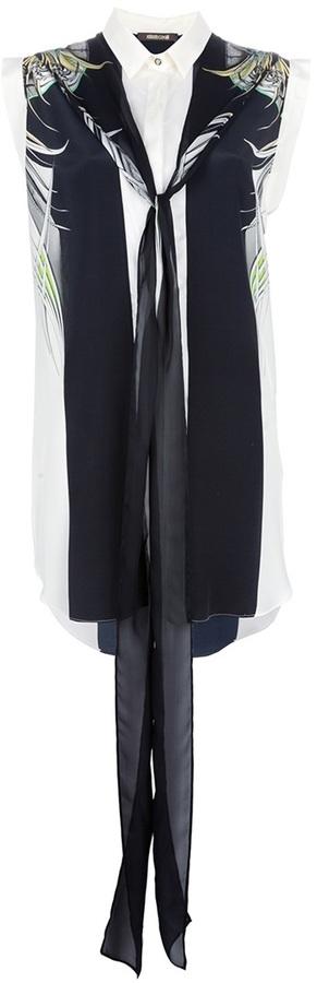 Roberto Cavalli bow oversized blouse