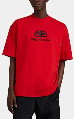 93c45d4f8479 Balenciaga Men's Oversized Logo-Print Cotton T-Shirt - Red