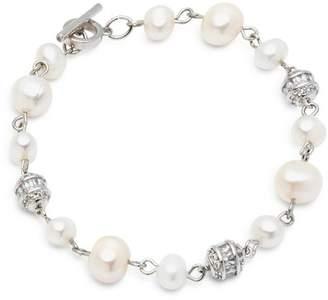 Carolee Cultured Freshwater Pearl & Pavé Ball Bracelet