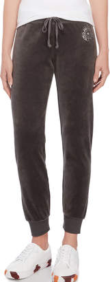 Juicy Couture Star Medallion Velour Joggers