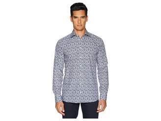 Eton Slim Fit Palm Frond Shirt