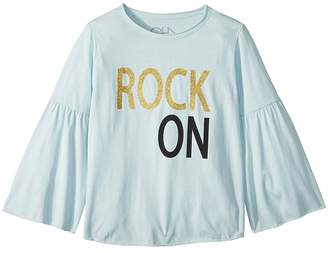 Chaser Kids Extra Soft Vintage Jersey Rock On Flared Sleeve Tee Girl's T Shirt