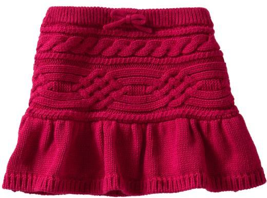 Cable knit sweater skirt