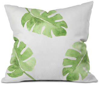 Deny Designs Wonder Forest Split Leaf Throw Pillow