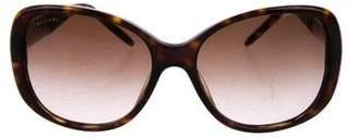 Bvlgari Tortoise Square Sunglasses