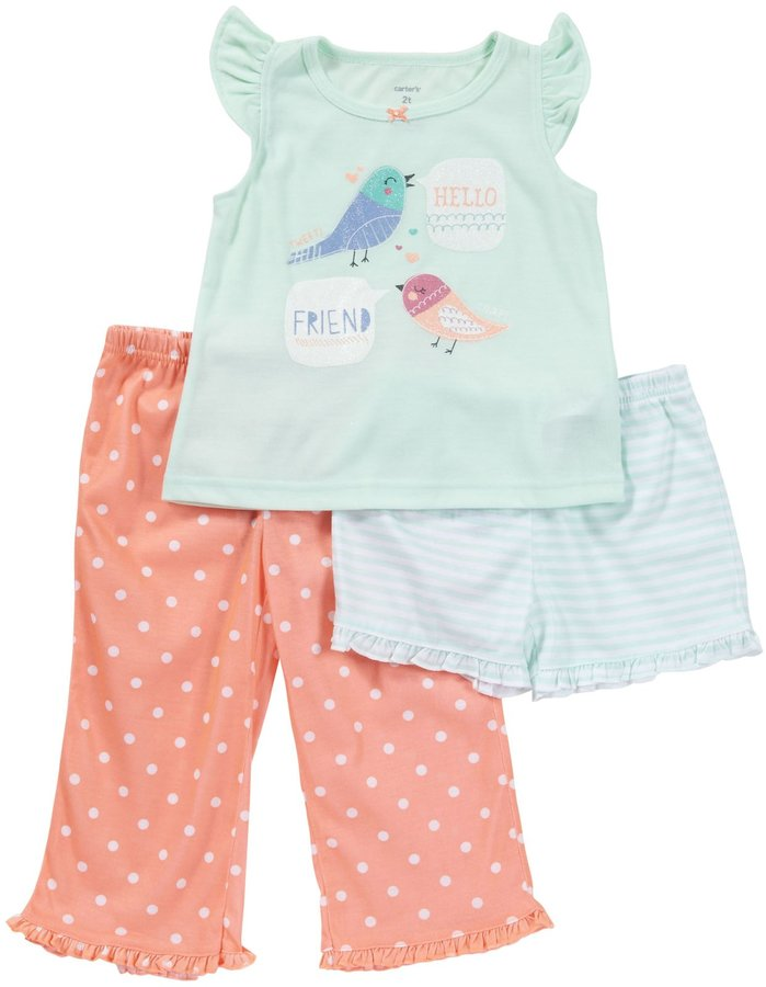 Carter's 3 Piece Dot Print Set (Toddler) - Hot Air Balloon-2T