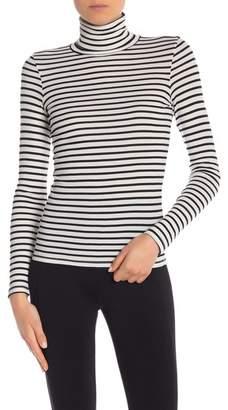 Splendid Long Sleeve Striped Turtleneck Top