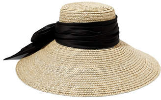 Eugenia Kim Mirabel Satin-trimmed Straw Hat - Beige