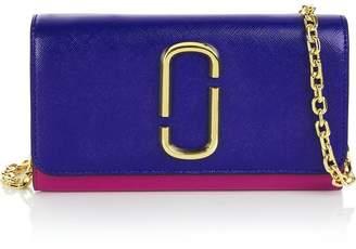 Marc Jacobs Snapshot Chain Strap Wallet Bag- Blue