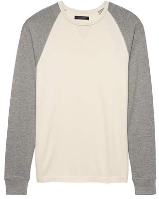 Banana Republic Waffle-Knit Cotton-Modal Baseball T-Shirt