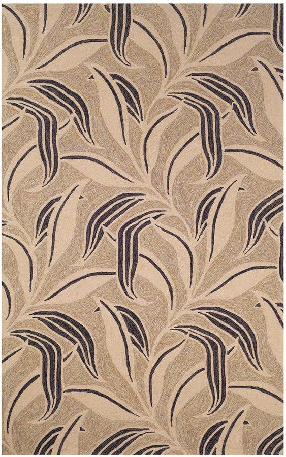 Liora Manné Area Rug, Indoor/Outdoor Promenade 1902/20 Leaf Neutral 2' x 8' Runner Rug