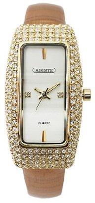 Abiste (アビステ) - [アビステ]ABISTE スクエアフェイスキラキラベルト時計/ゴールド 9300005G