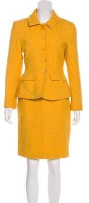 Alberta Ferretti Wool & Mohair-Blend Skirt Suit