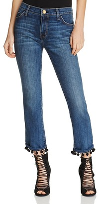 Current/Elliott The Cropped Straight Jeans in New Love $258 thestylecure.com