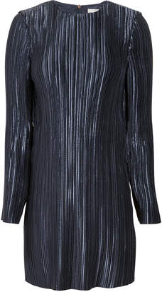 Tibi Pleated Navy Mini Dress