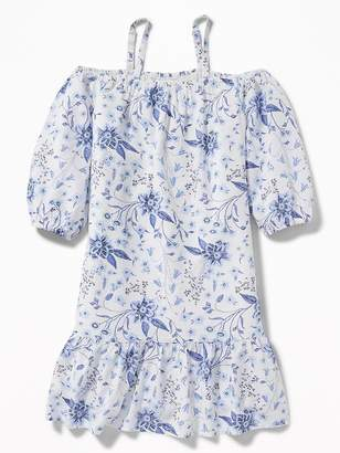 Old Navy Embroidered Off-the-Shoulder Midi Dress for Girls