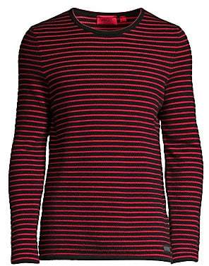 HUGO Men's Shimo Regular-Fit Stripe Sweater