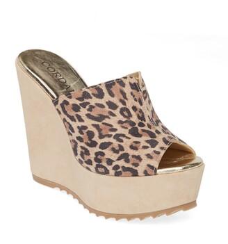 Cordani Onyx Platform Wedge Sandal