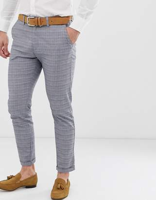 Jack and Jones slim fit suit pant in grey check