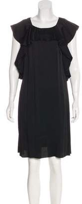 Lanvin Ruffled Satin Dress w/ Tags