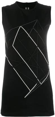 Rick Owens embroidered tank top