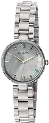 Bulova Women's Quartz Stainless Steel Casual Watch, Color:Silver-Toned (Model: 96L229) $127.92 thestylecure.com