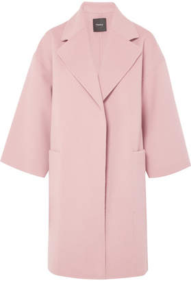 Theory Wool And Cashmere-blend Coat - Pink