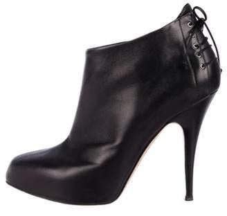 Giuseppe Zanotti Leather Ankle Booties Black Leather Ankle Booties