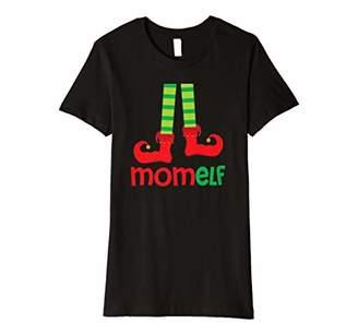 Womens Mom Elf Xmas Matching Family Christmas Pajamas Shirt Gift