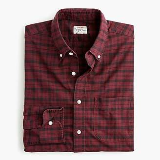 J.Crew American Pima cotton oxford shirt with mechanical stretch in Black Watch plaid
