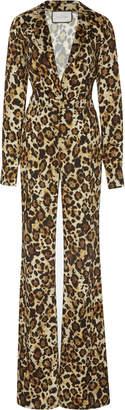 Alexis Danai Leopard Jumpsuit