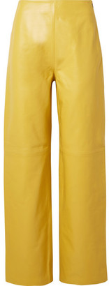 Jacquemus Jalad Leather Pants - Yellow