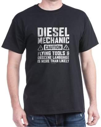 Diesel CafePress Mechanic Caution T-Shirt - Classic Cotton T-Shirt