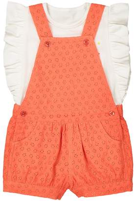 La Redoute Collections 2-Piece T-Shirt and Dungarees Set, 1 Month-3 Years
