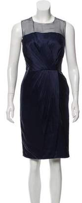 Andrew Gn Pleated Satin Dress w/ Tags