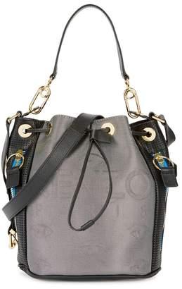 Kenzo Logo Leather Bucket Bag