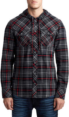 True Religion MENS PLAID UTILITY HOODIE