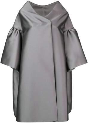Alberta Ferretti ruffle sleeve oversized coat