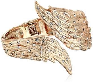 Betsey Johnson GBG) Angel Wings Hinged Bangle Bracelet