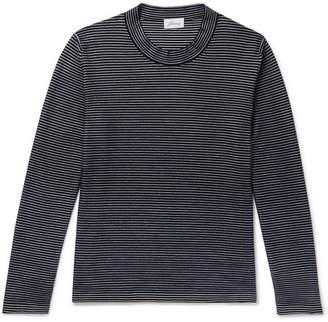 Brioni Slim-Fit Striped Cotton And Silk-Blend Sweater