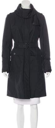 Burberry Belted Knee-Length Coat