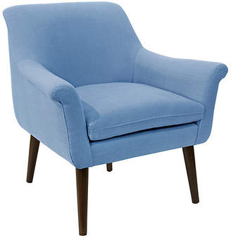 One Kings Lane Harmon Accent Chair - French Blue Linen
