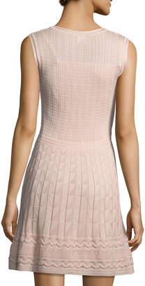 M Missoni Cable-Knit Sleeveless Dress