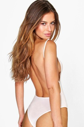 boohoo Petite Backless Strappy Thong Bodysuit