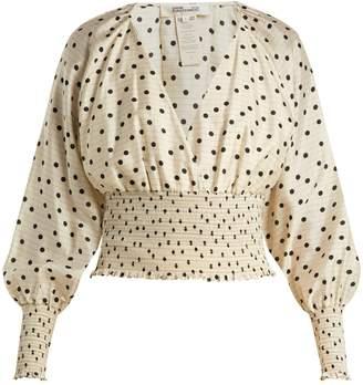 Diane von Furstenberg Polka-dot silk blouse